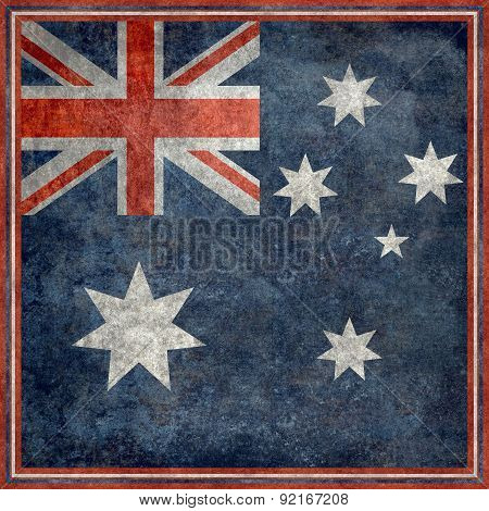 Australian national flag, Square vintage retro style