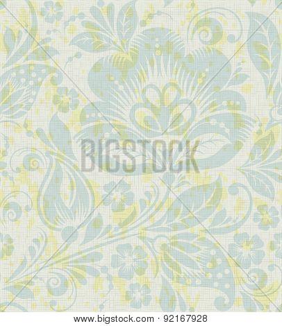 Vector Floral vintage rustic seamless pattern