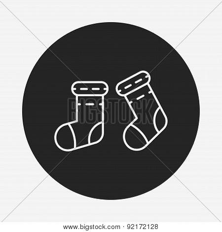 Baby Socks Line Icon