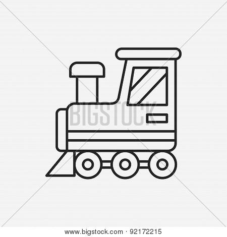 Baby Toy Train Line Icon