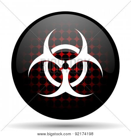 biohazard red glossy web icon