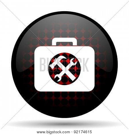 toolkit red glossy web icon