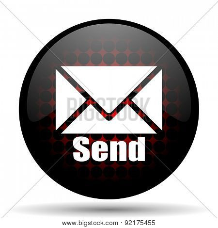 send red glossy web icon