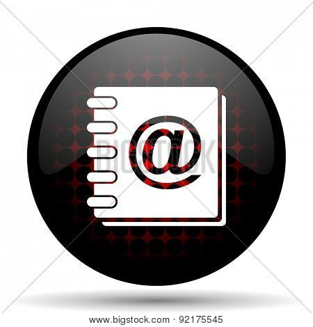 address book red glossy web icon
