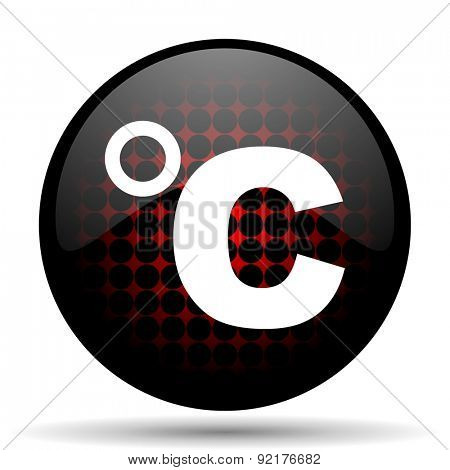 celsius red glossy web icon