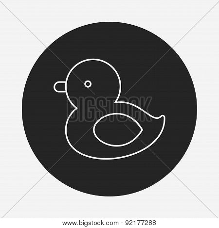 Baby Toy Duck Line Icon