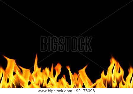 fire flame on dark background