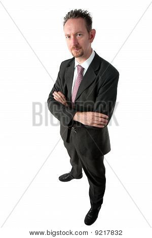 Full Length Businessman With Arms Crossed