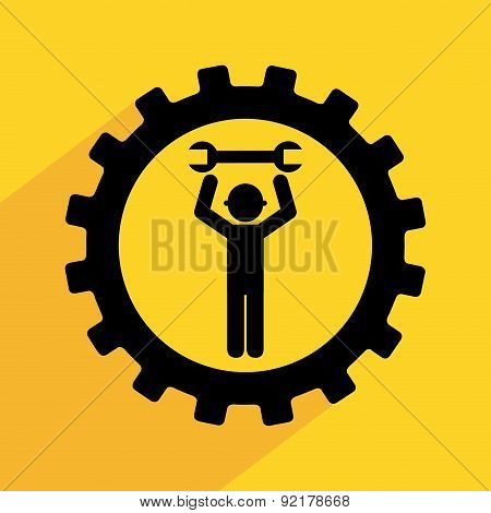 repair design over  yelow background vector illustration