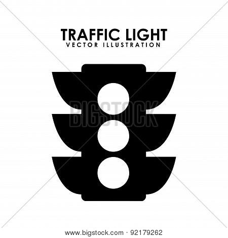 traffic light over white background vector illustration