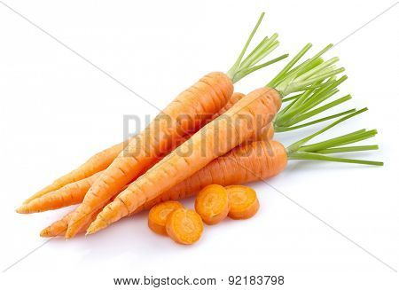 Sweet carrot on a white background