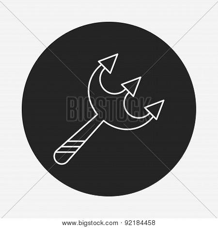 Halloween Scythe Line Icon