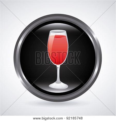 drink design over gray background vector illustration