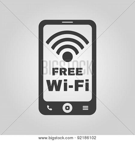 The Wifi Icon. Free Wifi Symbol. Flat