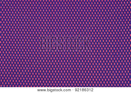 Blue Nonwoven Fabric On A Red