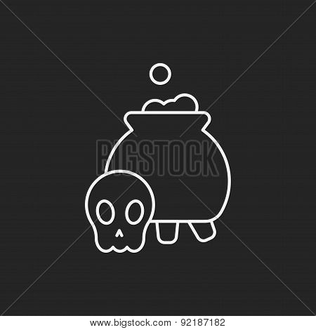 Halloween Poison Line Icon
