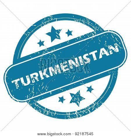 TURKMENISTAN round stamp