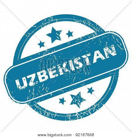 UZBEKISTAN round stamp
