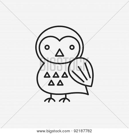 Halloween Bird Line Icon