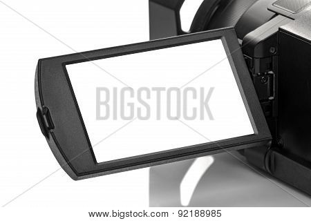 Digital Handycam Video Camcorder Display As Blank Space