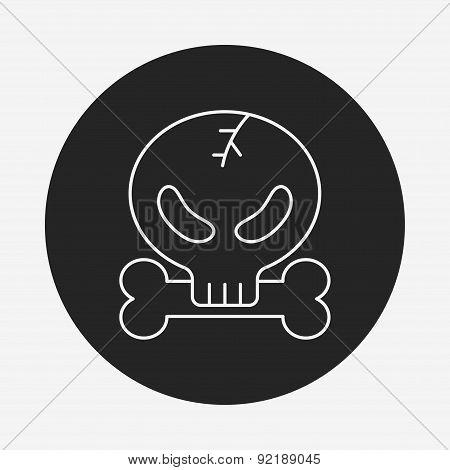 Halloween Skull Line Icon