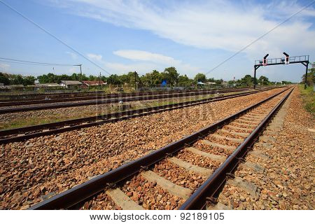 trains track railways hub