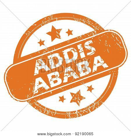 Addis Ababa round stamp