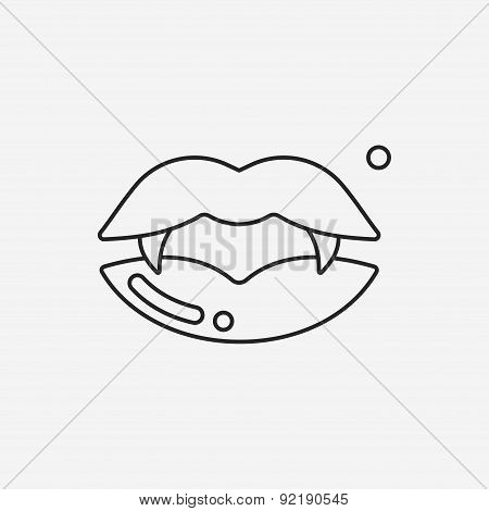 Halloween Mouth Line Icon