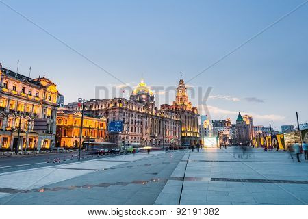 Delightful Scenery Of The Bund In Shanghai