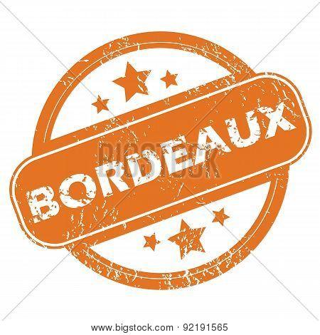 Bordeaux round stamp