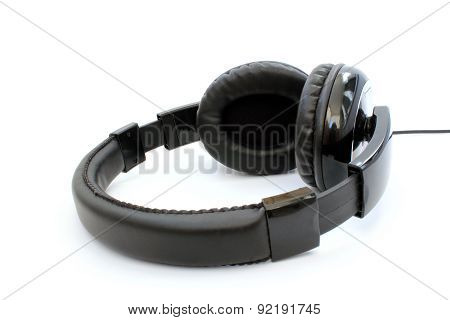 Black Headphones Lying