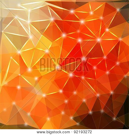 Modern geometric background with polygons, crystal