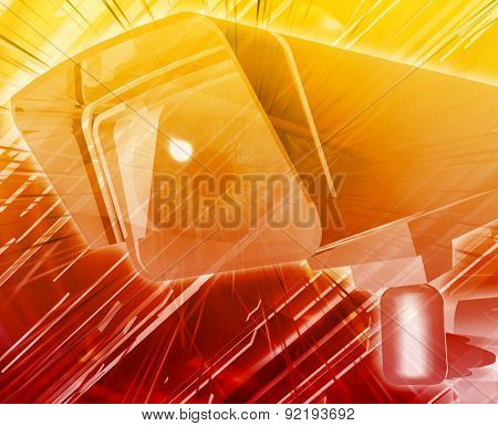 Abstract background digital collage concept illustration electronic surveillance