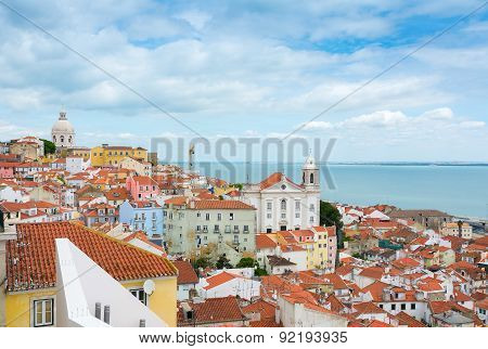 View Over Lisbon Alfama District