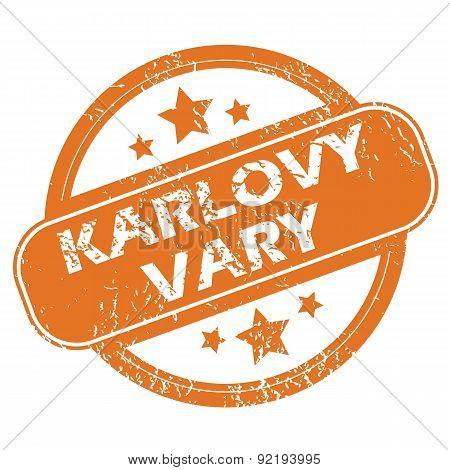 Karlovy Vary round stamp