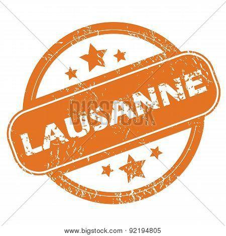 Lausanne round stamp
