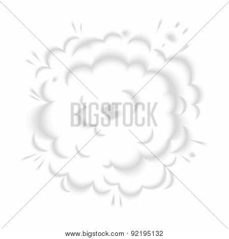 Isolated puffs of smoke