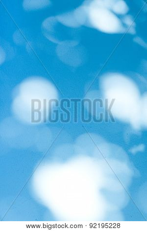 Spotted Lights On Textured Blue Background - Lights And Shadows