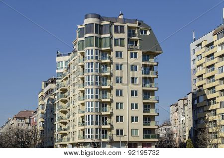 A residential district of contemporary bulgarian houses