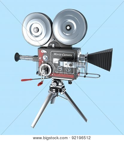Retro style movie camera