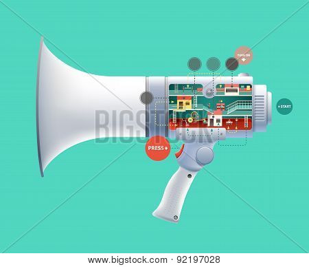 Huge loudspeaker