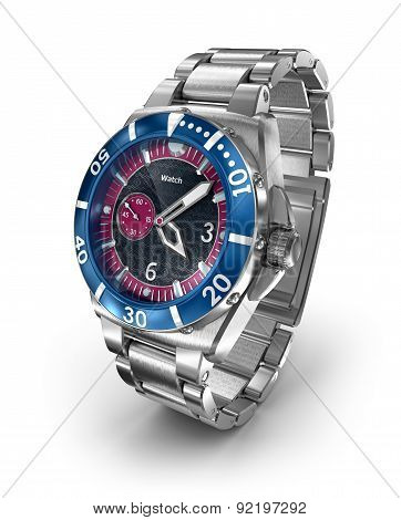 Mechanical Wrist Watch. 3D Model. My Own Design