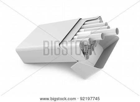 Cigarettes Pack 3D Illustration Isolated Over White