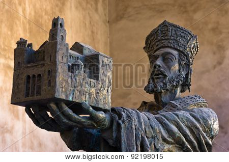 King Willam II offering Monreale cathedral to Virgin Mary, Sicily
