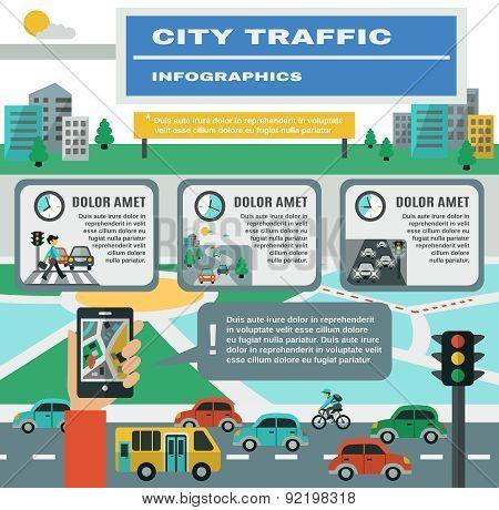Traffic Infographics Set