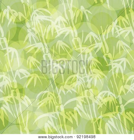 Abstract Seamless Background With Bamboo