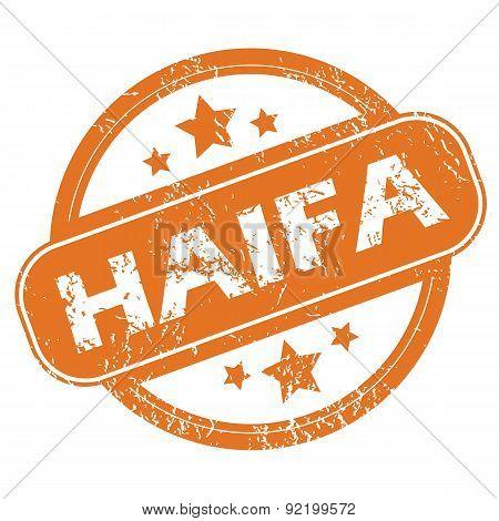 Haifa round stamp