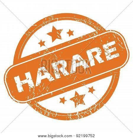 Harare round stamp