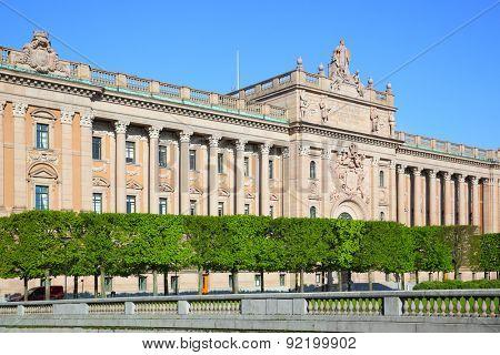 Riksdag - Parliament building in Stockholm, Sweden
