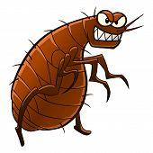 picture of parasite  - Cartoon flea - JPG